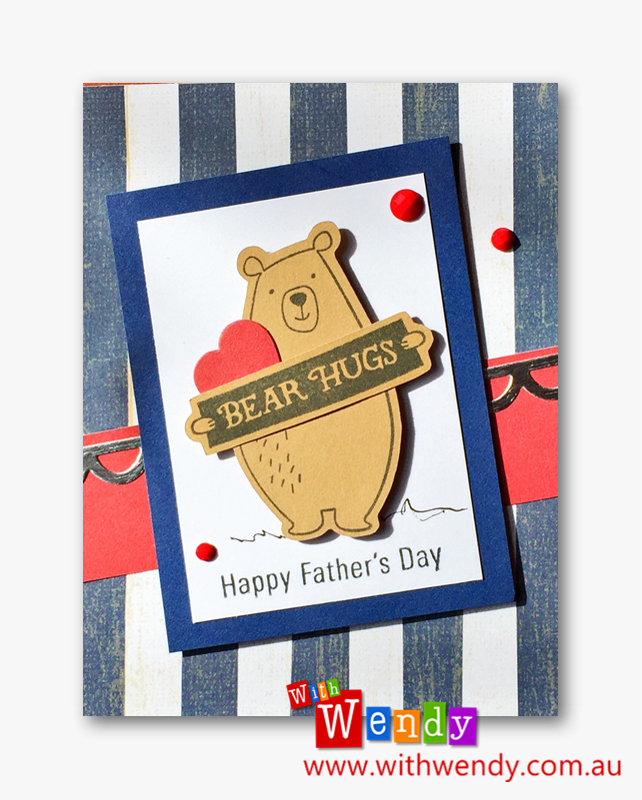 Card Kit with JACK Paper suite and BEAR HUGS Thin Cut