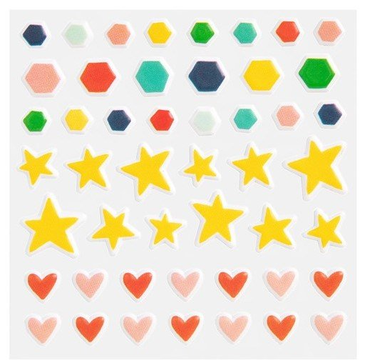 These fun puffy embellishments with their generic themed icons are perfect for any Scrapbook Layout.