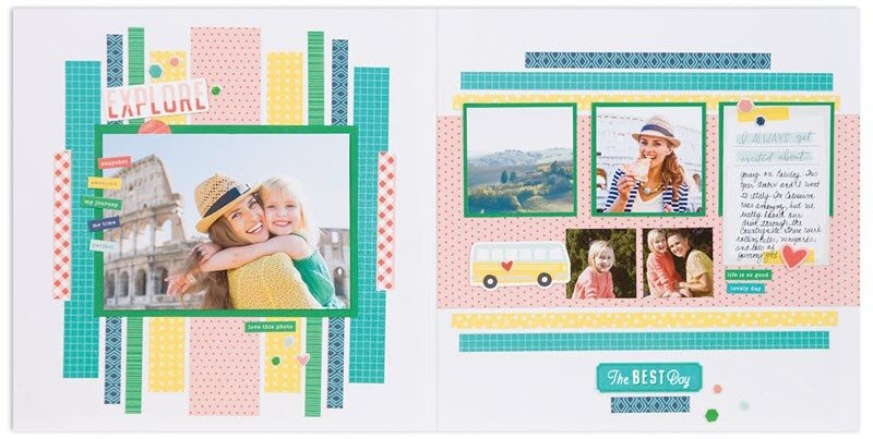 This is the original Kit version of the second layout from the SO MUCH HAPPY Workshop Your Way Scrapbook Kit (G1170).